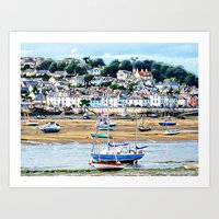 boats Art Prints featuring Boats by  Alexia Miles photography