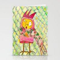 chicken Stationery Cards featuring Chicken by Dawn Patel Art