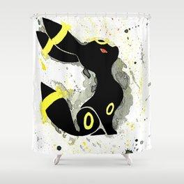 Umbreon Splash Silhouette Shower Curtain