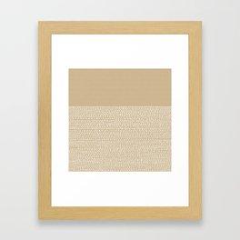 Riverside - Sand Framed Art Print