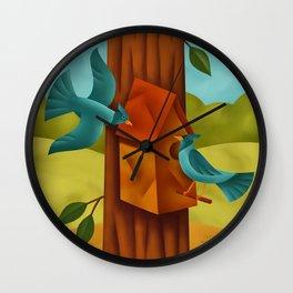 Bluejays Wall Clock
