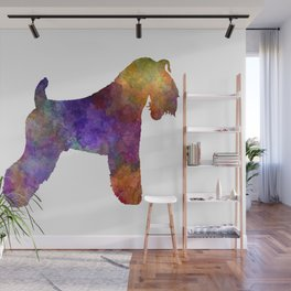 Kerry Blue Terrier 01 in watercolor Wall Mural
