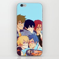 iwatobi iPhone & iPod Skins featuring 2nd season by JohannaTheMad