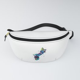 Guam Map Fanny Pack