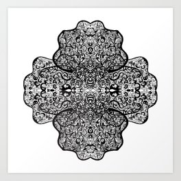 Paisley, Illustration, Ink Drawing Art Print