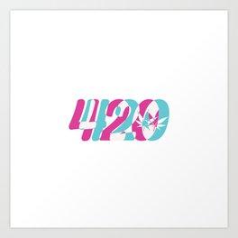 420 | Smoke Weed Cannabis Pot Gift Ideas Art Print