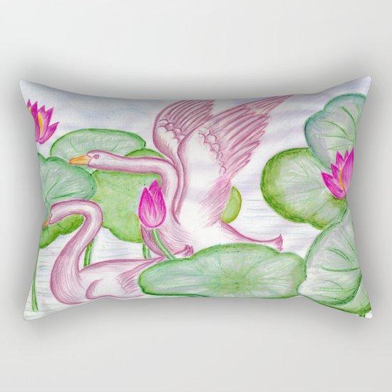 Swan Couples Rectangular Pillow