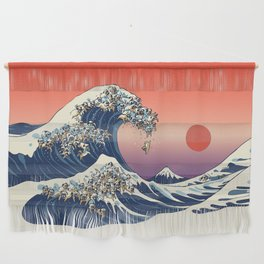 The Great Wave of Pug Wall Hanging