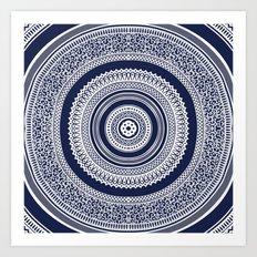 Denim Mandala Art Print