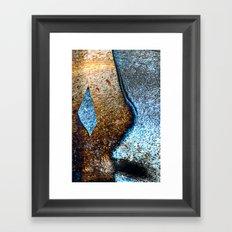 Blue and Gold Framed Art Print