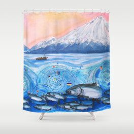 Cook Inlet Wild Alaska Shower Curtain