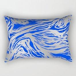 Marbled Blue Rectangular Pillow
