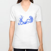 final fantasy V-neck T-shirts featuring FINAL FANTASY X  by DrakenStuff+