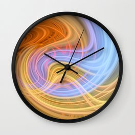 Trippy Twirl 1 Wall Clock