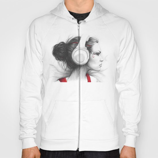 I Love Music | Girl in Headphones Hoody