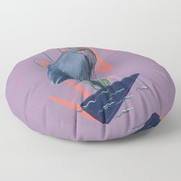 Great blue on the Bayou Floor Pillow