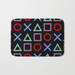 Gamer Pattern (color on black) Bath Mat