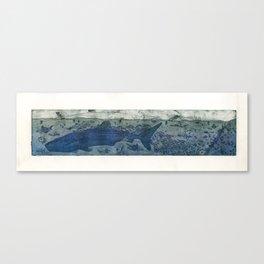 Sea Life Etching - White Canvas Print