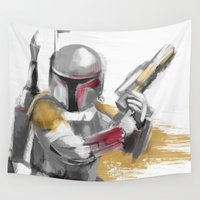 boba Wall Tapestries featuring Boba Fett by Berta Merlotte