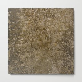 The old font in stone Metal Print