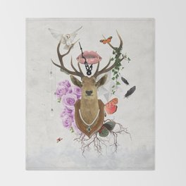The Stag Throw Blanket