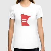 minnesota T-shirts featuring Minnesota Love by Tank Top Sunday
