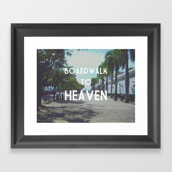 Boardwalk to Heaven Framed Art Print