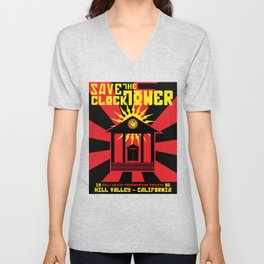 Clocktower Propaganda Unisex V-Neck