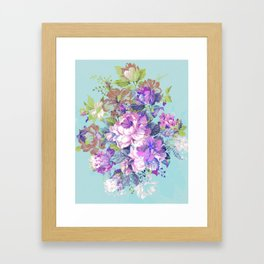 Deconstructed Floral Framed Art Print