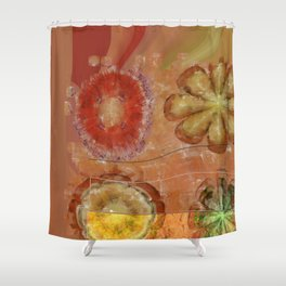 Groanful Structure Flower  ID:16165-064021-59481 Shower Curtain
