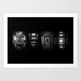 Indian Step Well Composition #1 Art Print