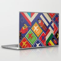 travel poster Laptop & iPad Skins featuring EU Travel Poster by Thefunctionalfox
