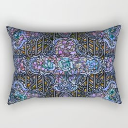 Louis Comfort Tiffany - Decorative stained glass 24. Rectangular Pillow