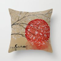 japan Throw Pillows featuring Japan by Japan Art