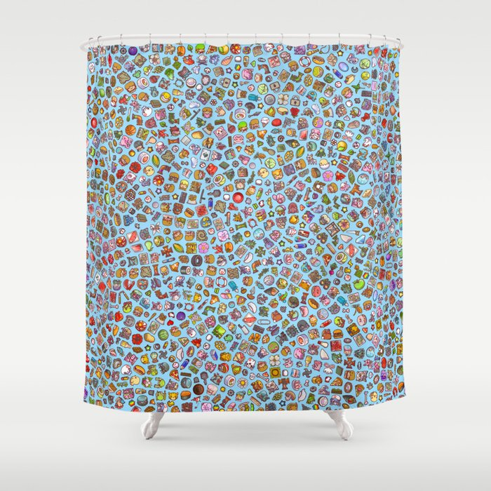 Enfu Whimsical Misfits Pattern Shower Curtain By