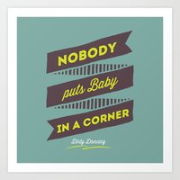 dirty dancing Art Prints featuring Dirty dancing by 16floor