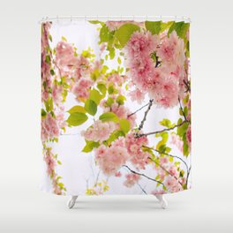 Pink Cherry Blossom Japanese Spring Beauty Shower Curtain