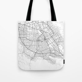 Minimal City Maps - Map Of San Jose, California, United States Tote Bag