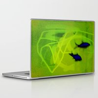 ships Laptop & iPad Skins featuring FISH&SHIPS by lucborell