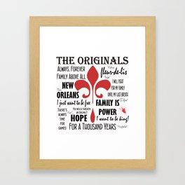 The Originals inspired art print (White) Framed Art Print