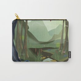 Vietnam Jungle Cave cartoon travel poster Carry-All Pouch
