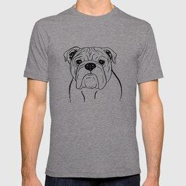 English Bulldog (Black and White) T-shirt