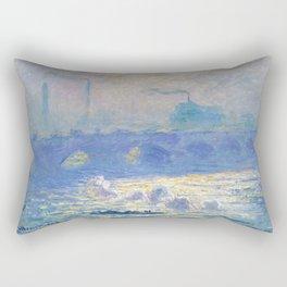 Waterloo Bridge, Sunlight Effect by Claude Monet Rectangular Pillow