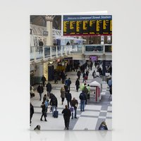liverpool Stationery Cards featuring Liverpool Street Station London by David Pyatt