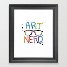 ART NERD Framed Art Print