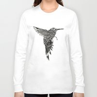 plain Long Sleeve T-shirts featuring HummingBird Plain by efan