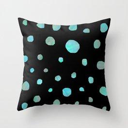 Blue meteorites Throw Pillow