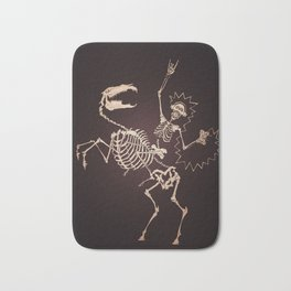 Skeleton Shock Rock Bath Mat