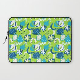 Brushstroke Abstracts - blue and green Laptop Sleeve