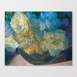 Vintage Still Life Bouquet Painting Canvas Print